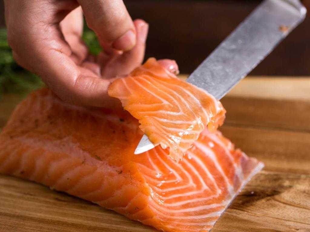 Красная рыба для бутерброда